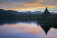 LLANGORSE LAKE AT SUNSET