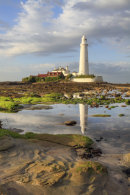 LOW TIDE AT ST MARY'S LIGHTHOUSE