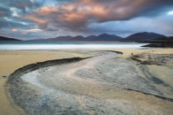 LUSKENTYRE BEACH AT SUNSET