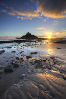 MARAZION BEACH AT SUNSET