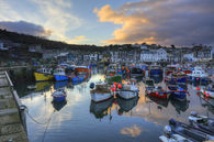 MEVAGISSEY HARBOUR AT SUNSET