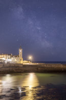 MILKY WAY OVER PORTHLEVEN CLOCK
