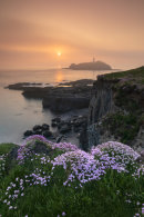 MISTY SPRING SUNSET (Godrevy)