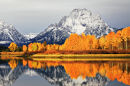 MOUNT MORAN IN THE FALL