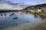 MOUSEHOLE HARBOUR AT SUNRISE