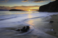 OLDSHOREMORE BEACH AT SUNSET