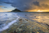 SETTING SUN FROM THE CAUSEWAY (St Michael's Mount)