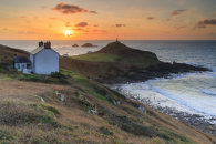 SETTING SUN OVER CAPE CORNWALL