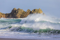 STORMY SEA AT PORTHCURNO