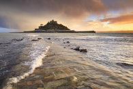 STORMY SUNSET  (St Michael's Mount)