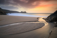 STREAM AT SUNRISE (Porthcurno)