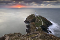 THE SETTING SUN AT SOUTH STACK