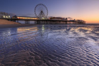TWILIGHT AT BLACKPOOL CENTRAL PIER