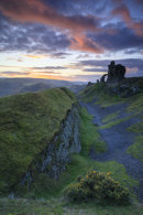 CASTELL DINAS BRAN AT SUNSET