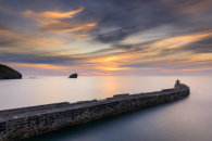 PIER AT SUNSET (Portreath)