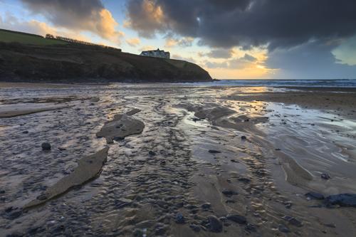 POLDHU BEACH AT SUNSET