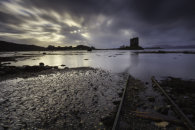 RAIL TRACKS AT CASTLE STALKER