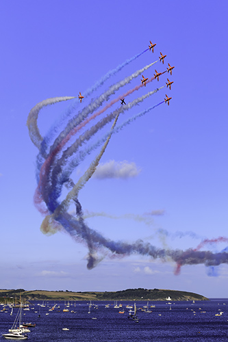 RED ARROWS DISPLAY (Falmouth)