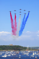 RED ARROWS OVER PENDENNIS CASTLE