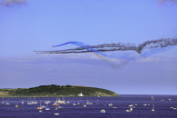 RED ARROWS OVER ST ANTHONY LIGHTHOUSE