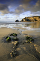 ROCKS ON PORTREATH BEACH