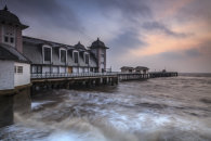 ROUGH SEA AT SUNRISE (Penarth Pier)