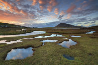 SALT MARSH AT SUNSET  (Isle of Harris)