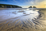 SAND PATTERNS ON HOLYWELL BEACH