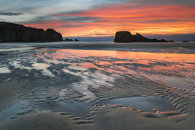 SAND RIPPLES AT SUNSET (Perranporth)
