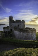 SETTING SUN AT ST MAWES CASTLE