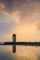 SETTING SUN AT BATEMANS TOWER (Brightlingsea)