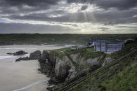 SHAFTS OF LIGHT OVER PERRANPORTH