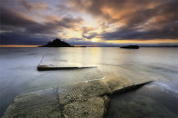 SLIPWAY AT SUNSET (St Michael's Mount)