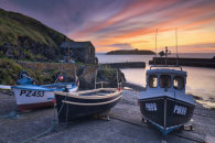 SLIPWAY AT SUNSET (Mullion Cove)