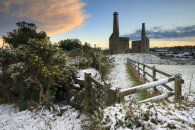 SNOW AT SUNSET (Wheal Unity Wood mines)