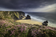 SPRING EVENING AT THE BEDRUTHAN STEPS