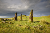 STORM CLOUDS OVER GLENGORM STONE CIRCLE