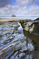 STREAM AT TREBARWITH STRAND