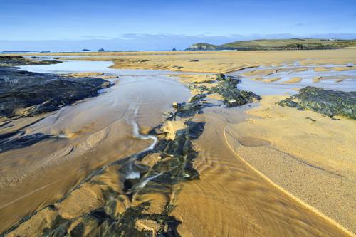 STREAM ON CONSTANTINE BAY BEACH