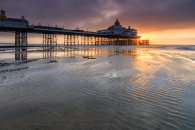 SAND RIPPLES AT SUNRISE (Eastbourne Pier)