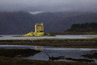 SUNLIGHT ON CASTLE STALKER
