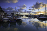 SUNRISE REFLECTIONS AT PADSTOW