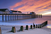 SUNRISE AT SOUTHWOLD PIER