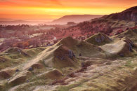 SUNRISE AT THE LLANGATTOCK ESCARPMENT