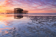 SUNRISE OVER THE WEST PIER (Brighton)