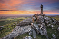 SUNSET AT BRAT TOR (Dartmoor)