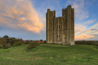 SUNSET AT ORFORD CASTLE