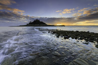 SUNSET FROM THE CAUSEWAY (St Michael's Mount)