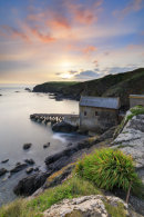 SUNSET OVER THE OLD LIFEBOAT STATION (Lizard)