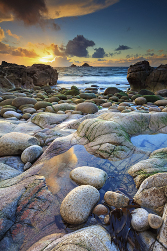 The Brison's at Sunset (Porth Nanven)